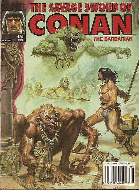 Savage Sword of Conan. Vol 176 © 1990 Marvel. @theactionpixel.com
