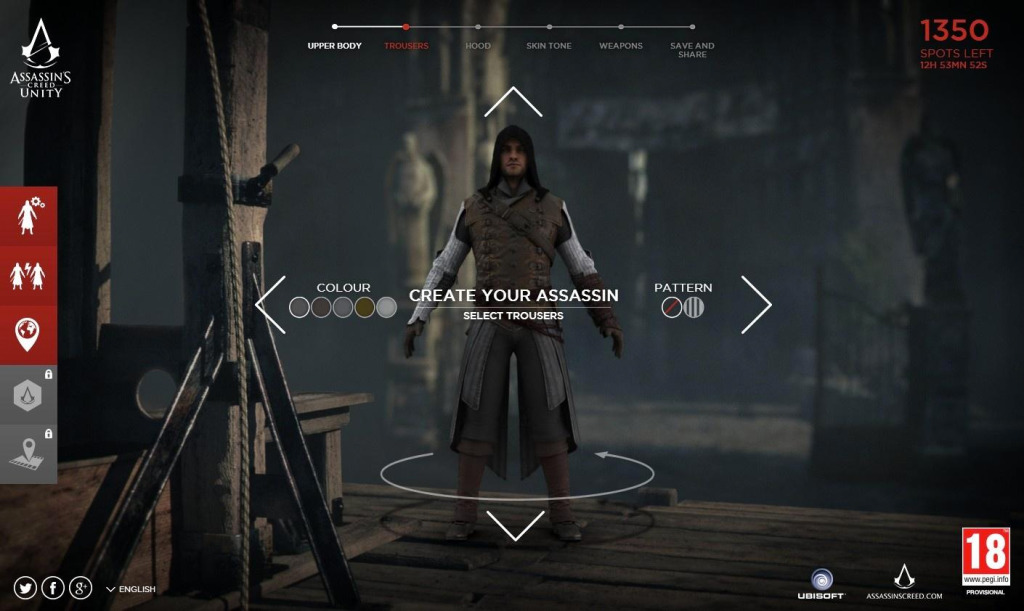 Customisation Interface on Assassin's Creed: Unity @ TheActionPixel.com
