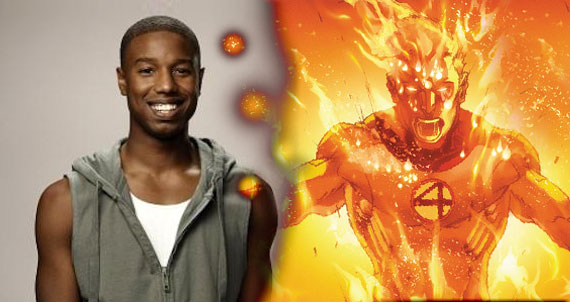 Human Torch Actor Michael B. Jordan