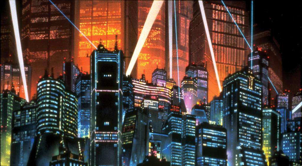 Tokyo Nightscape in Akira (1988)