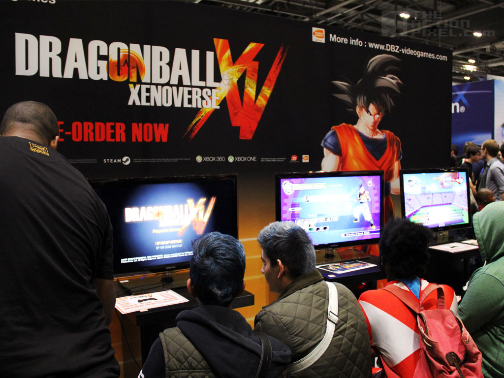 Dragonball Xenoverse booth at MCM London Comic Con 2014 w/ The Action Pixel