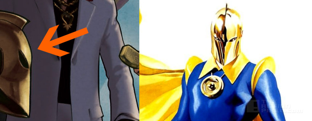 Dr Fate's helmet in Constantine poster?