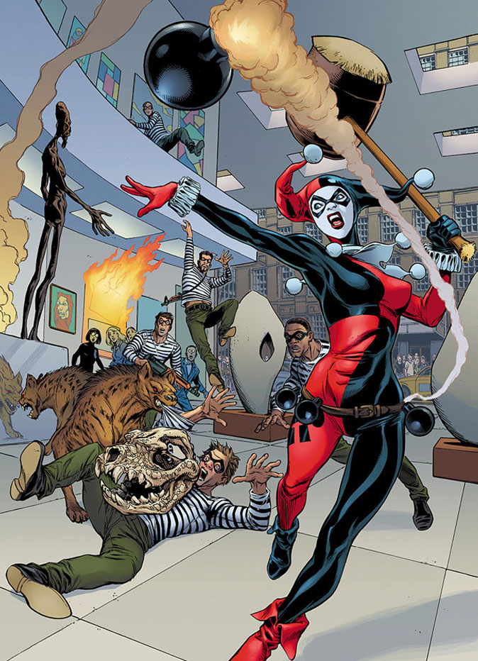 """Harley Quinn"" Exclusive Art  from DC Comics ""Convergence""  THE ACTION PIXEL @theactionpixel"