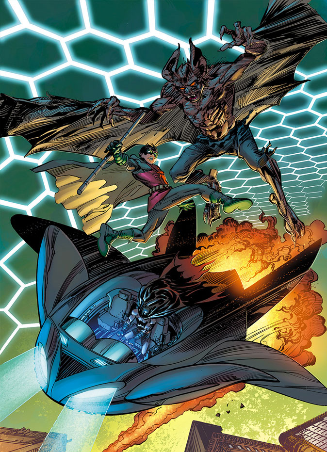 """Batman and Robin"" Exclusive Art  from DC Comics ""Convergence""  THE ACTION PIXEL @theactionpixel"