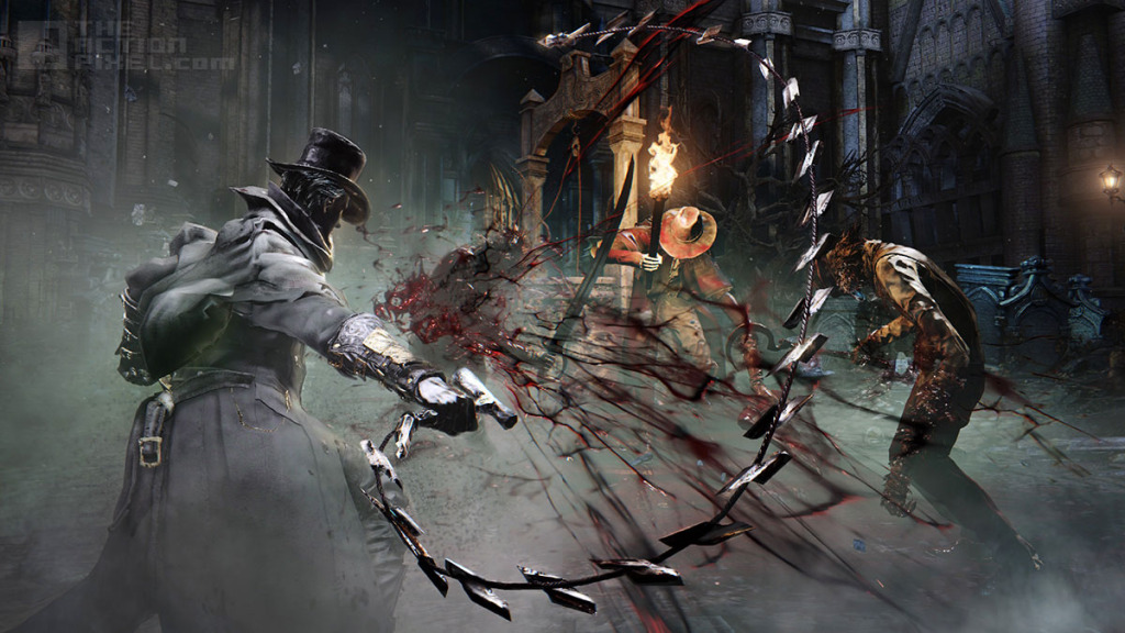 Whipping Cane in Bloodborne. THE ACTION PIXEL @theactionpixel