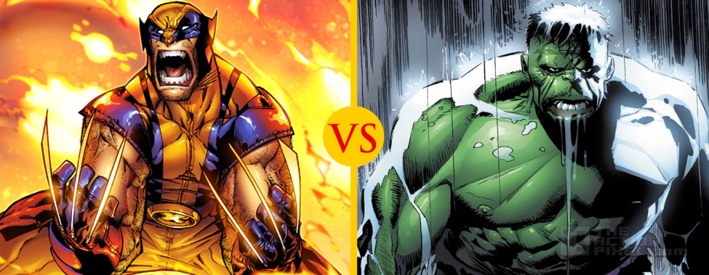 wolverine vs. Hulk THE ACTION PIXEL @theactionpixel