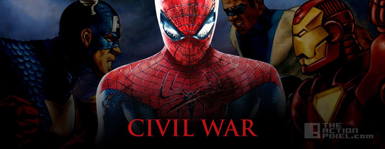 CIVILWAR SPIDERMAN. The Action Pixel. @TheActionPixel