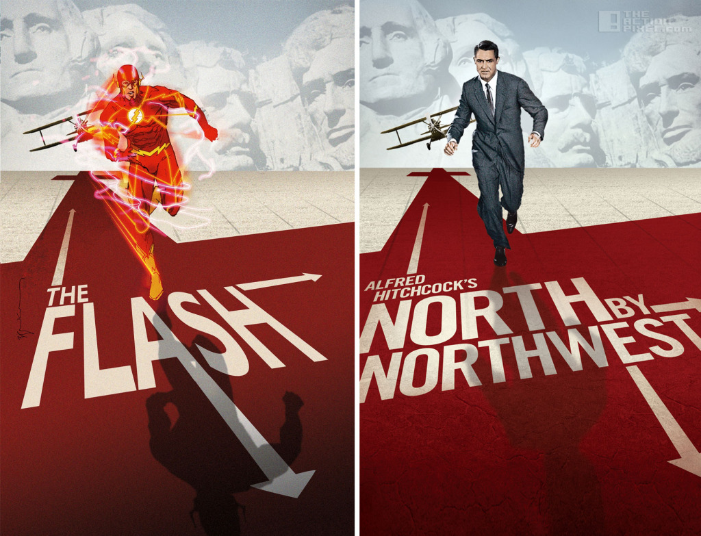 Flash -North By NorthWest Dc comics variant cover. The Action Pixel. @TheActionPixel