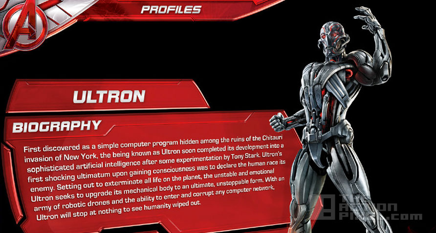 Avengers: Age Of Ultron. Ultron Biography. The action Pixel. @Theactionpixel