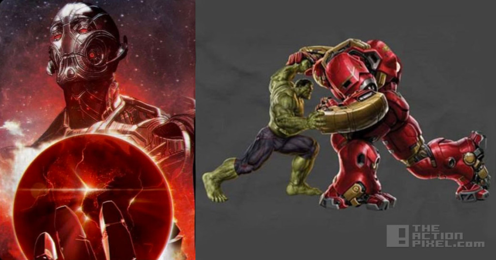 Avengers 2: Age of Ultron. Ultron and Iron Man V Hulk. The Action Pixel. @Theactionpixel