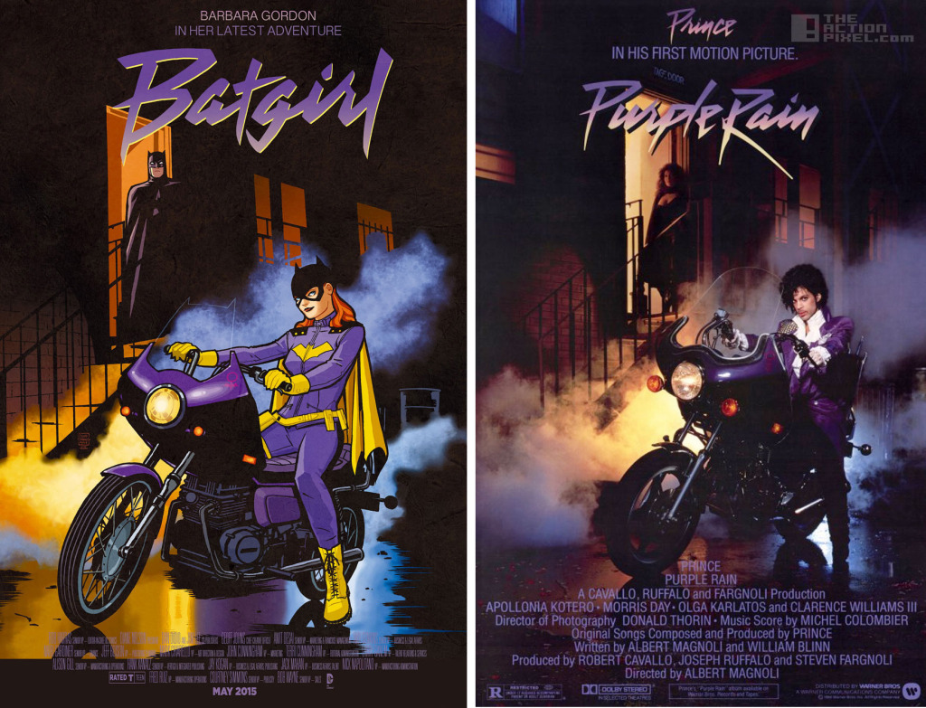 batgirl / purplerain cover DC Comics. The Action Pixel. @TheActionPixel