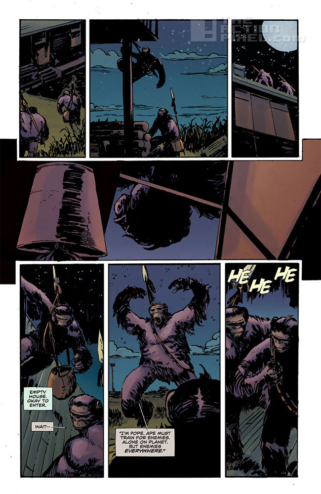 dawn Of The Planet Of The Apes #2 panels. The Action pixel. @theactionpixel