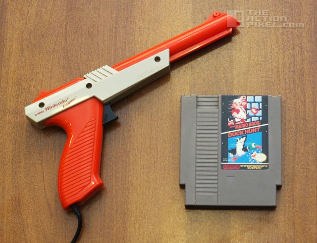 nes light zapper and in-game super mario bros and duck hunt. The Action Pixel. @theactionPixel