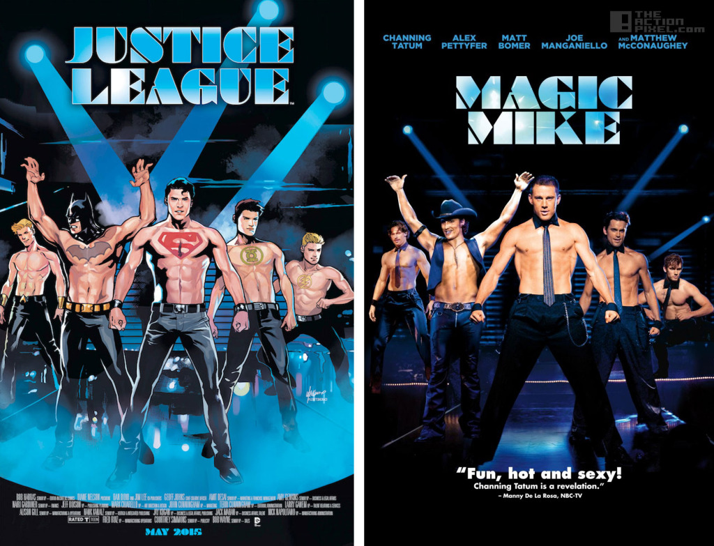 justice league - magic mike dc comics variant cover. The Action Pixel. @TheActionPixel
