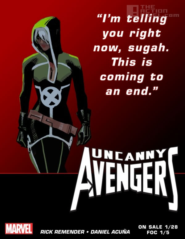 rogue teaser. Uncanny Avengers. Marvel. The action pixel. @theactionpixel