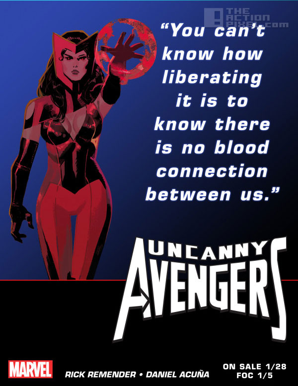 scarlet teaser. Uncanny Avengers. Marvel. The action pixel. @theactionpixel
