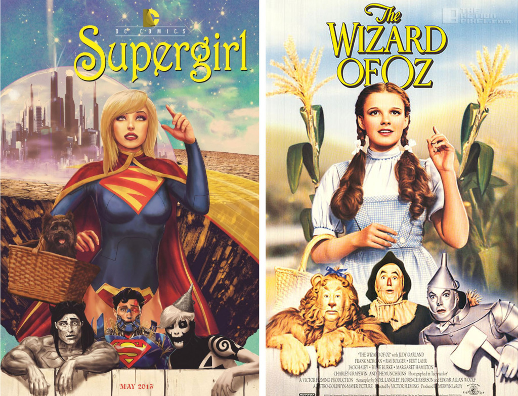 supergirl - The Wizard of oz dc comics variant cover. The Action Pixel. @TheActionPixel