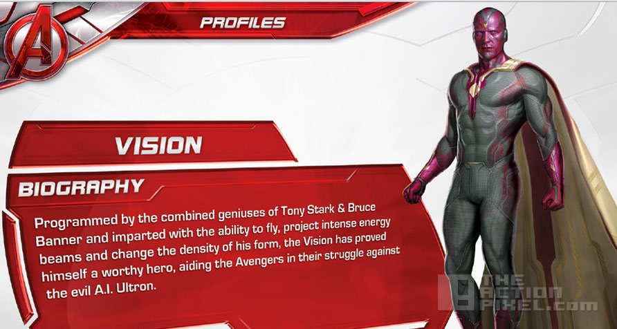 Avengers: Age Of Ultron. Vision Biography. The action Pixel. @Theactionpixel