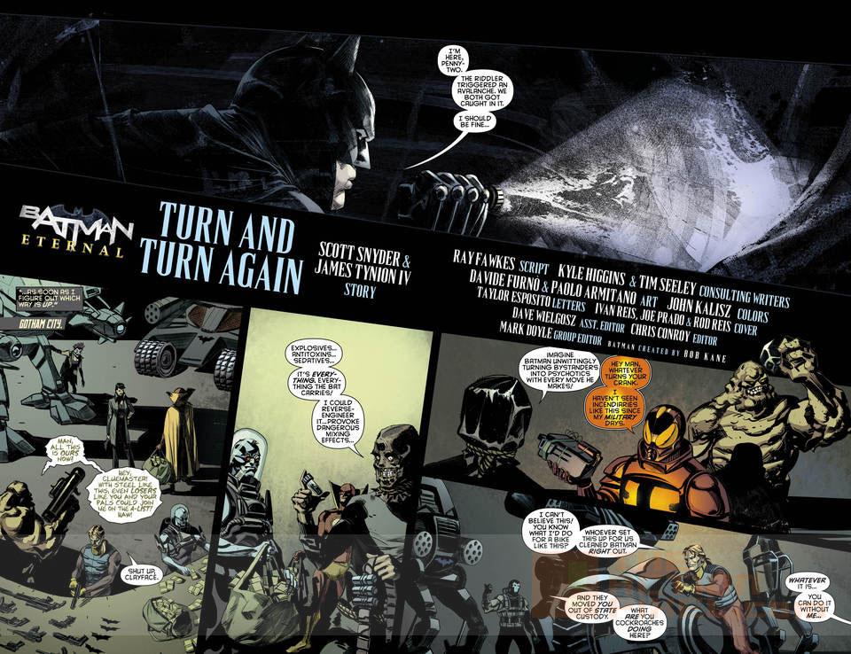 Batman Eternal #40. page 2  DC Comics. The Action Pixel. @theactionpixel