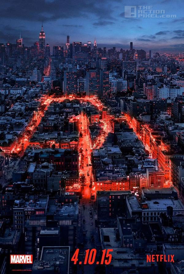 Daredevil Poster. Netflix, Marvel. The Action Pixel. @theactionpixel