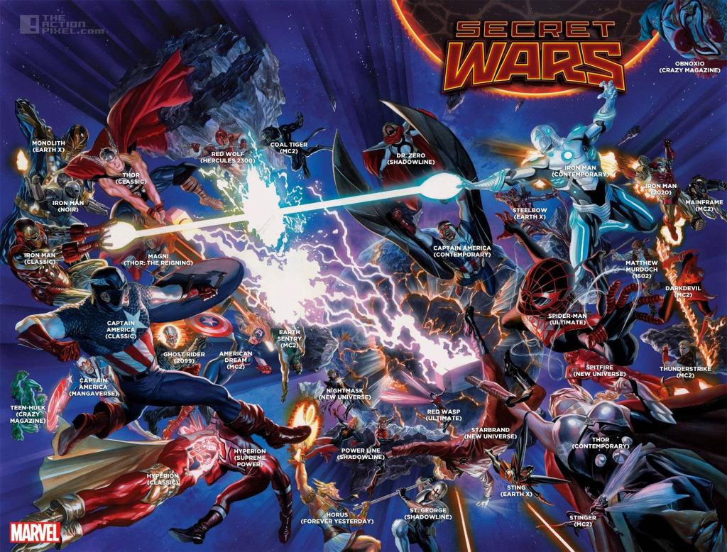 Secret Wars Cover Labelled. The action pixel @theactionpixel. Alex ross