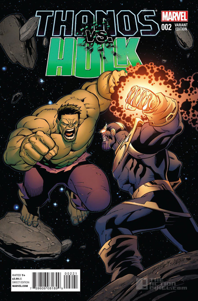 Thanos Vs Hulk Variant Cover. The Action Pixel. @TheActionPixel