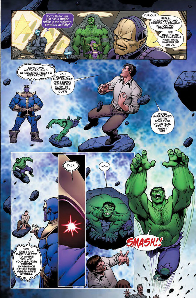 Thanos Vs Hulk Page 3. The Action Pixel. @TheActionPixel