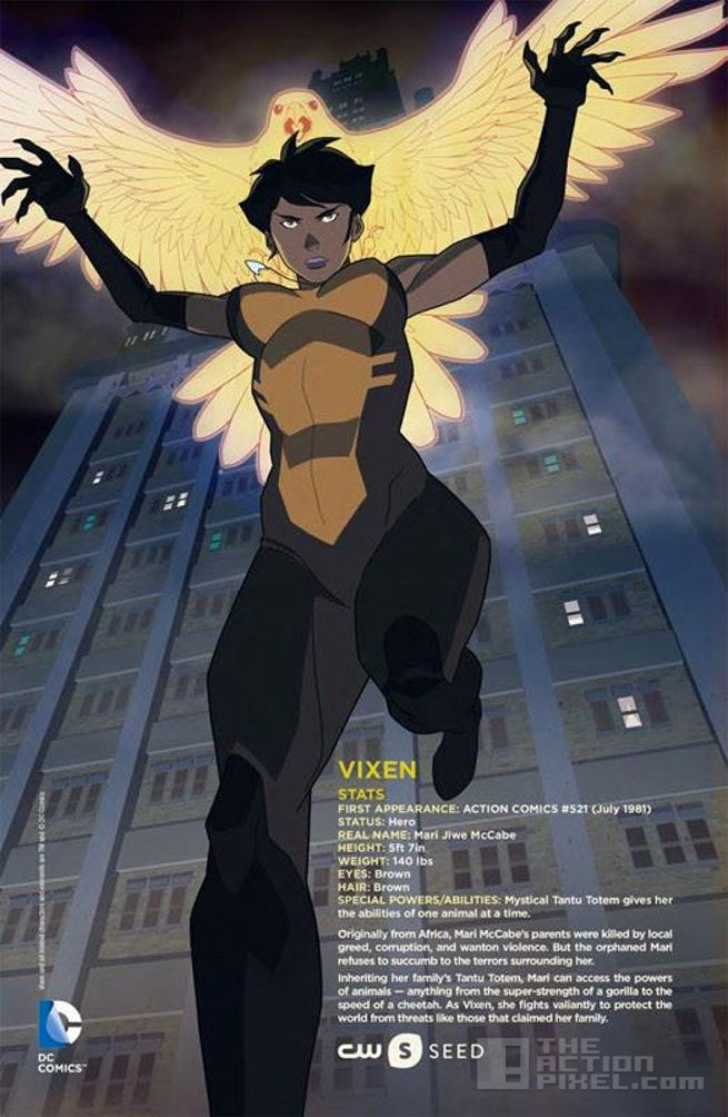 vixen. Cw seed. Dc comics, @theactionpixel The Action pixel