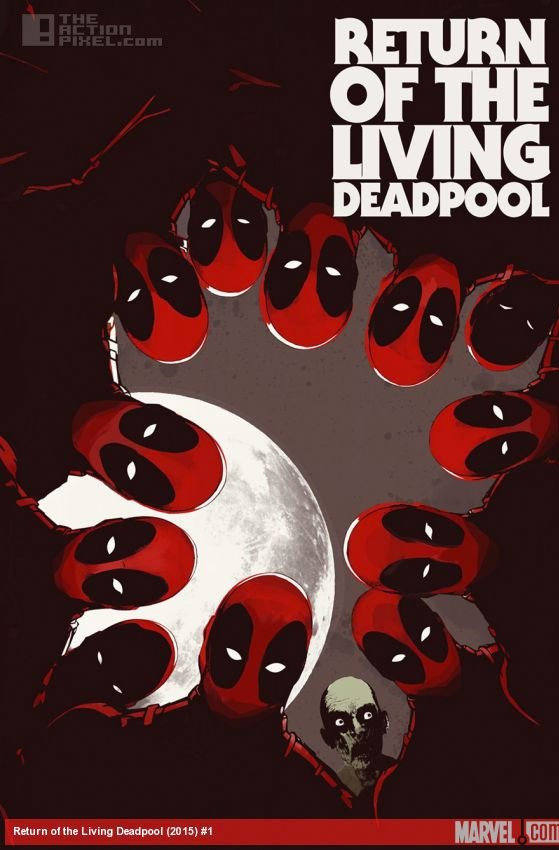 return of the living deadpool Cover by Jay Shaw.  Marvel . The Action Pixel. @theactionpixel