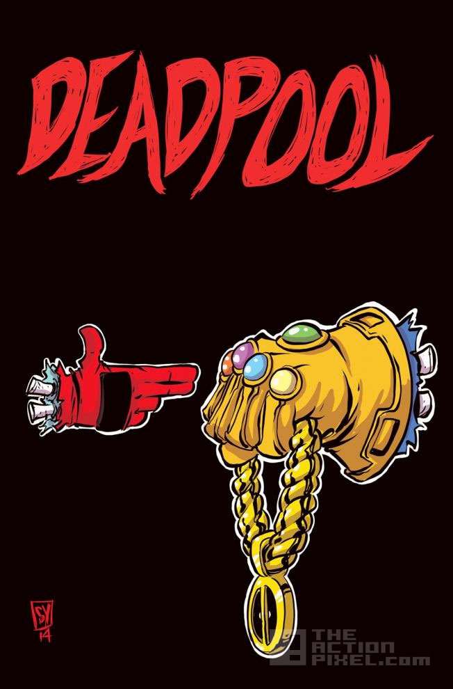 Marvel's deadpool / run the jewels variant comic book cover. The Action pixel. @theactionpixel