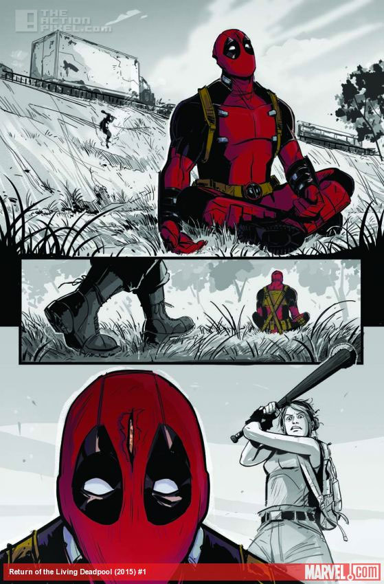 return of the living deadpool.  Marvel . The Action Pixel. @theactionpixel