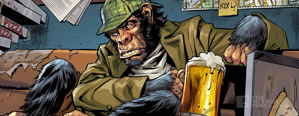 detective Chimp taking a swipe at Rocket Raccoon in Injustice: Gods Among Us. The Action Pixel. @theactionpixel #EntertainmentOnTAP