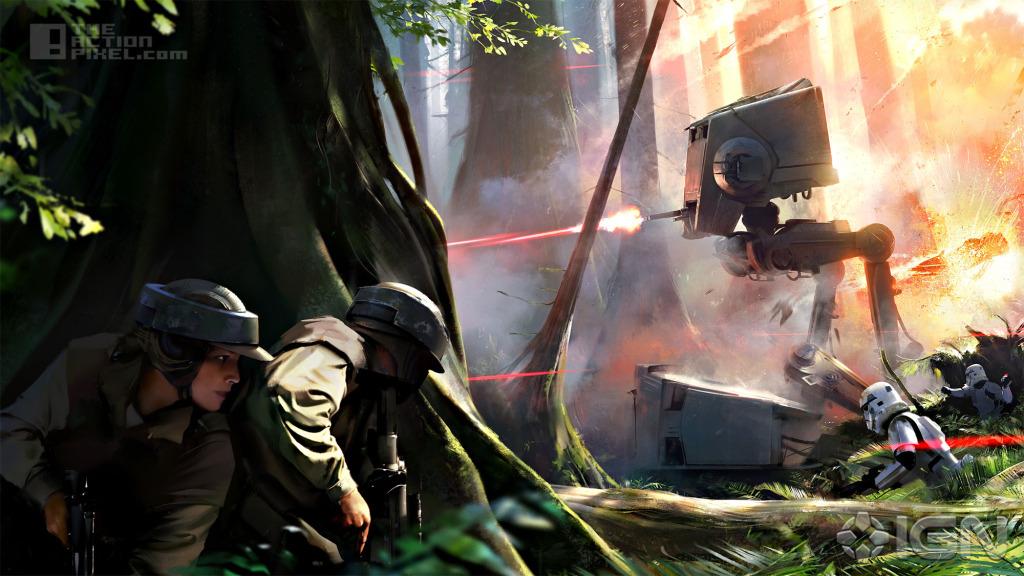 endor Star Wars battlefront conceptart. the action pixel. @theactionpixel