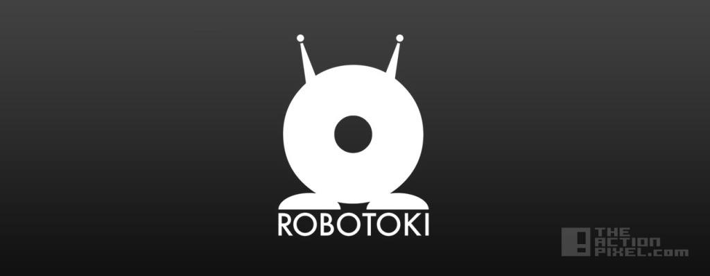 robotoki logo. The action pixel. @theactionpixel