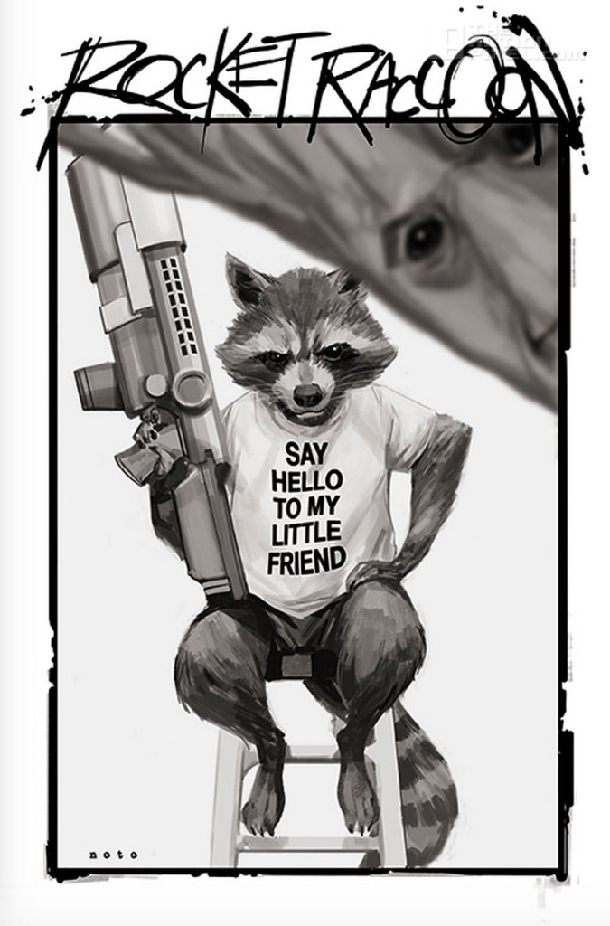 Rocket and Raccoon. Phil noto variant cover. The action Pixel. @theactionpixel