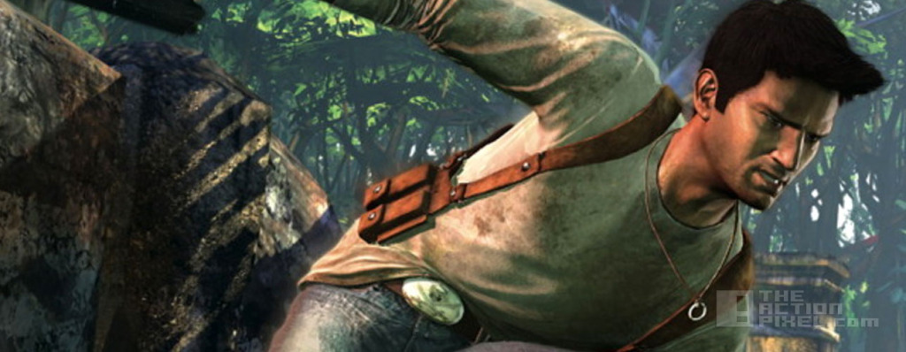 the art of the uncharted banner. The action pixel. @theactionpixel