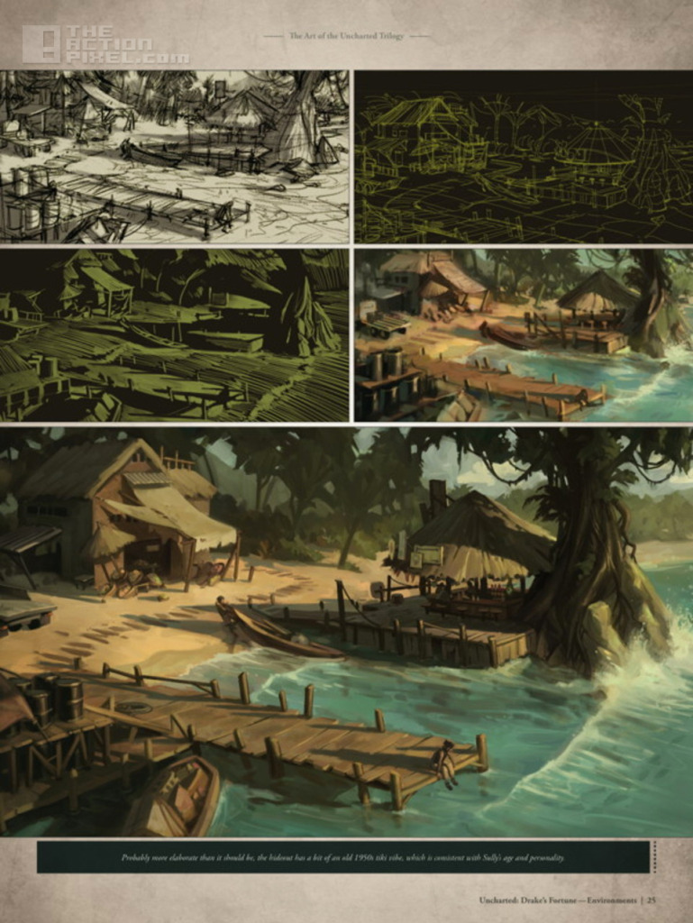 The Art Of Uncharted Trilogy. Dark horse. Naughty Dog. The action pixel. @theactionpixel
