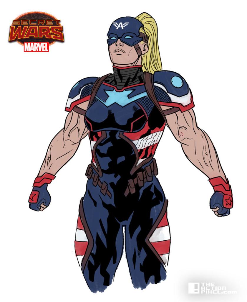 captain america 2099. Secret wars 2099 Character Art. Will Sliney. The Action pixiel. @theactionpixel