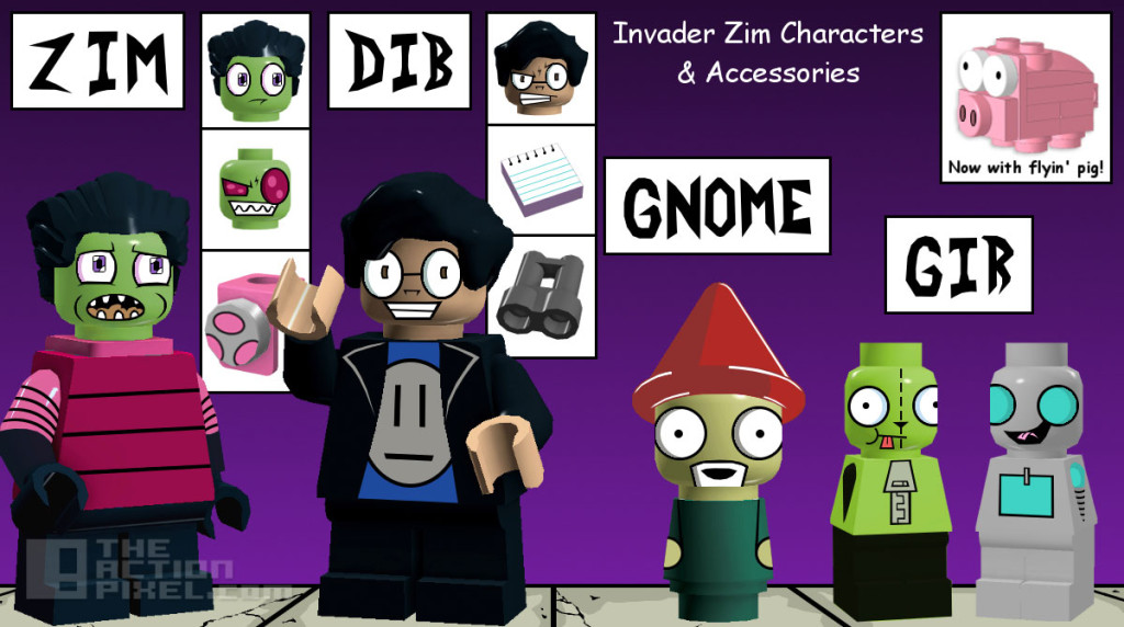 invader zim lego characters. The action pixel. @theactionpixel