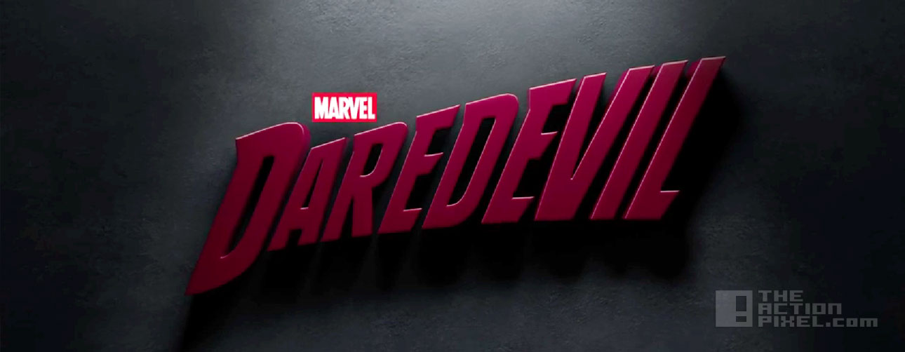 marvel and netflix Daredevil Title. the action pixel. @theactionpixel