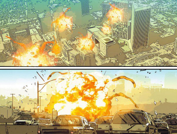 punisher #12 panels. Marvel.  The Action Pixel. @theactionpixel