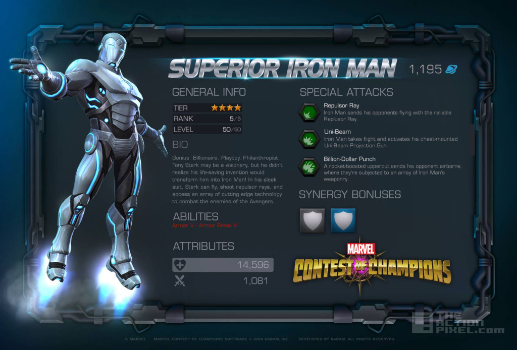 Superior iron man special moves Banner. Kabam + marvel. the action pixel @the action pixel