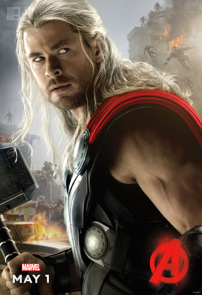 thor poster. Avengers: age of ultron. the action pixel. @theactionpixel