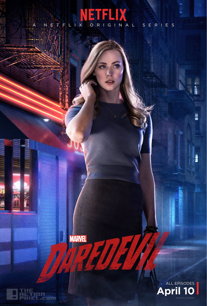 Deborah Ann Woll is Karen Page. Daredevil. marvel . netflix. the action pixel. @theactionpixel