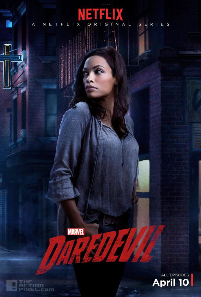 Rosario Dawson is Claire Temple.  Daredevil. marvel . netflix. the action pixel. @theactionpixel