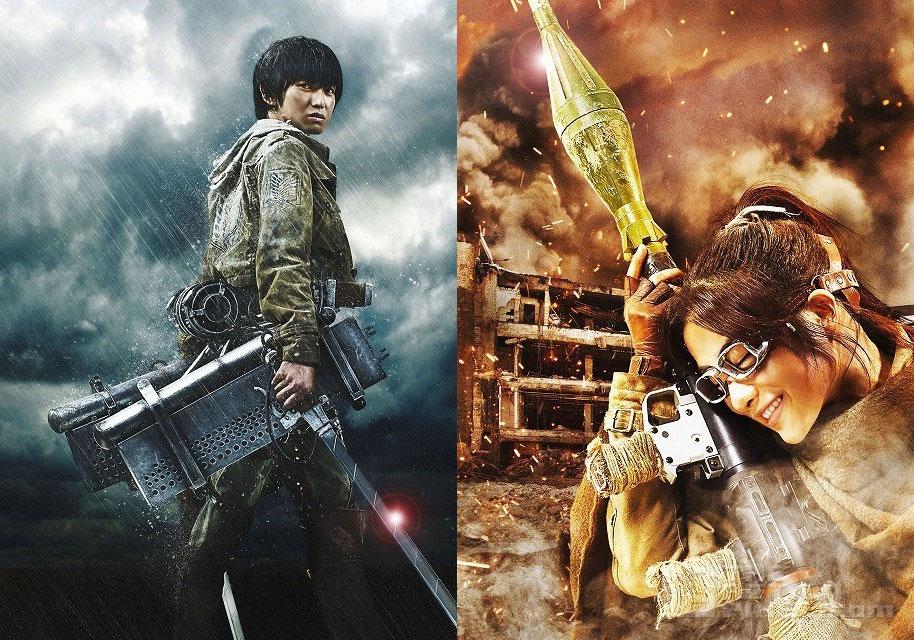 Kanata Hongo as Armin + Satomi Ishihara as Hans/Hanji. Attack on titan. the action pixel. @theactionpixel