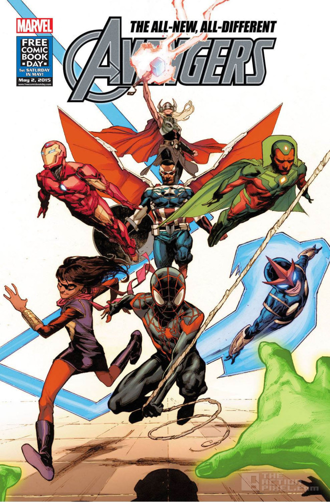 all new all different avengers FCBD_cover. marvel. the action pixel. @theactionpixel