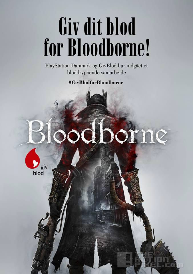 bloodborne blood donor poster. the action pixel. @theactionpixel