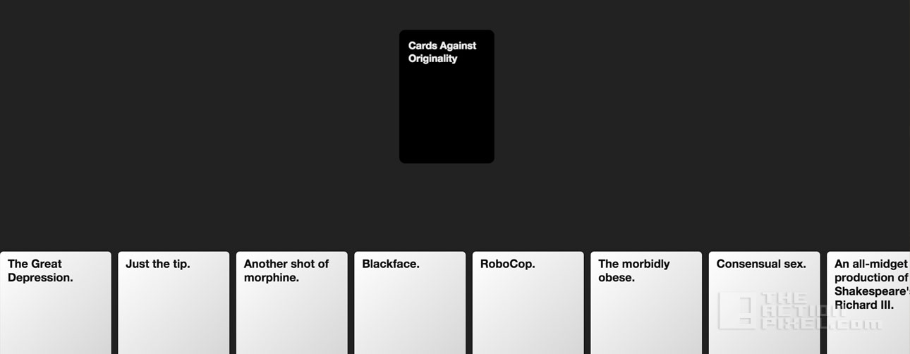 cards against originality. the action pixel. @theactionpixel