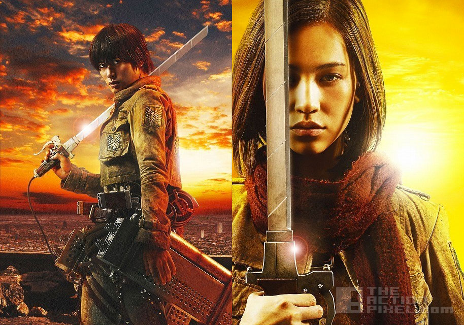 Haruma Miura as Eren + Kiko Mizuhara as Mikasa. the action pixel @theactionpixel